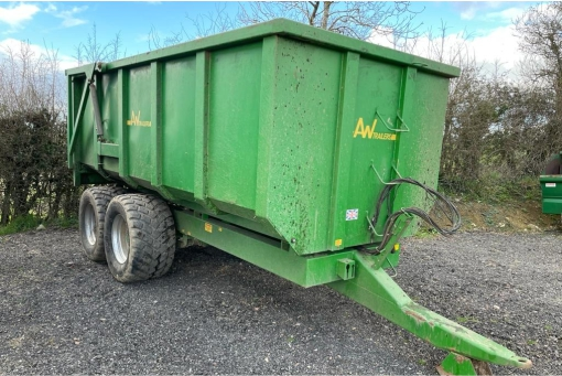 AW 12 tonner grain trailer - front and side profile