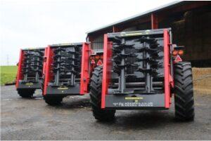 Agrispread 6, 9 and 12 tonne muckspreaders