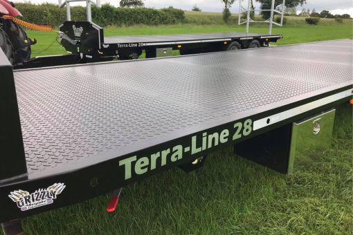 Terra-Line bale trailer view of flat bed