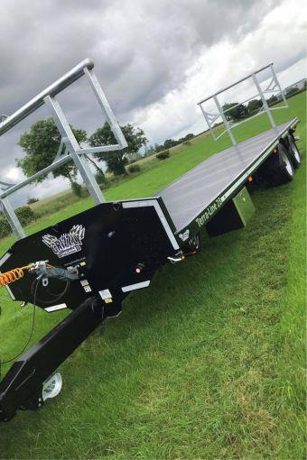 Terra-Line bale trailer in a field
