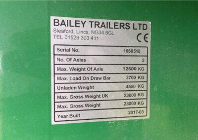 36ft Bailey Bale trailer information