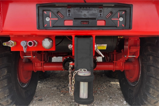 Proline trailer with rear hitch and auxilaries