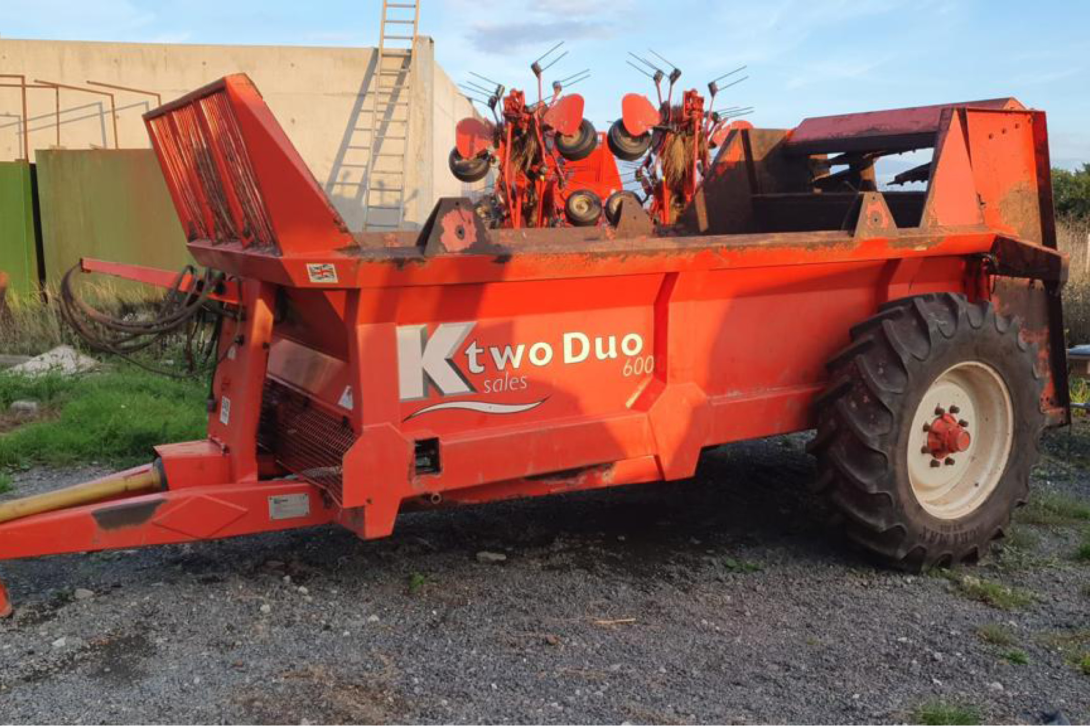 K Two Duo 600 muck spreader (PK131)